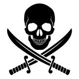 Pirate symbol Stock Image