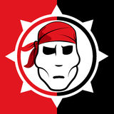 Pirate symbol with bandana Royalty Free Stock Image