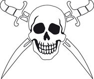 Pirate symbol Jolly Roger Stock Images