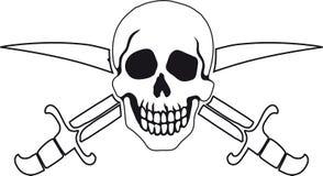 Pirate symbol Jolly Roger Royalty Free Stock Photos