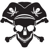 Pirate symbol Jolly Roger skull Royalty Free Stock Photography