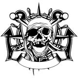 Pirate symbol skull Stock Image