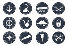 Pirate symbols Stock Photo