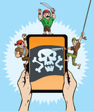 Pirate Tablet hack Royalty Free Stock Photography