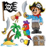 Pirate thematics collection 1 Stock Images
