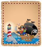 Pirate theme parchment 1 Royalty Free Stock Images