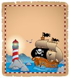Pirate theme parchment 3 Stock Image