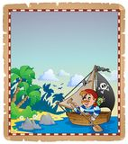 Pirate theme parchment 6 Royalty Free Stock Photo