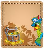 Pirate theme parchment 9 Stock Image