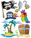 Pirate theme set 1 Stock Images