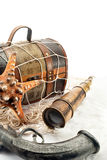 Pirate theme still life. Royalty Free Stock Image