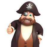 Pirate with Thumbsup pose. 3d rendered illustration of Pirate with Thumbsup pose Royalty Free Stock Photography