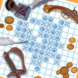 Pirate tic tac toe Stock Photo
