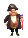 Pirate with Tooth brush Stock Photos