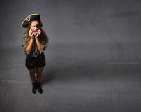 Pirate toothache concept Royalty Free Stock Photo