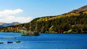 pirate tourist ship at Hakone  torii gate Stock Images