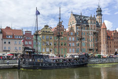 Pirate touristic ship in Gdansk, Poland Royalty Free Stock Photos