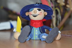 Pirate toy. In blue hat Stock Photo