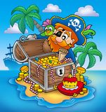 Pirate and treasure Royalty Free Stock Images