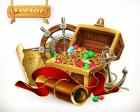 Pirate treasure. Adventure vector illustration vector illustration