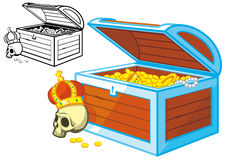 Pirate treasure chest Stock Images