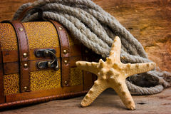 Pirate treasure chest Royalty Free Stock Photography