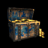 Pirate Treasure Chest, 3d illustration. Pirate Treasure Chest, drawing, 3d illustration royalty free illustration