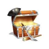 Pirate Treasure Chest Illustration Royalty Free Stock Photo