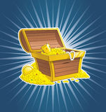 Pirate treasure chest Royalty Free Stock Images