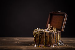 Pirate treasure chest Royalty Free Stock Image