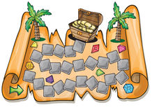 Pirate treasure chest - Vector illustration Royalty Free Stock Images