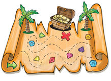 Pirate treasure chest - Vector illustration Stock Images