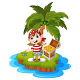 Pirate in the treasure island Royalty Free Stock Image