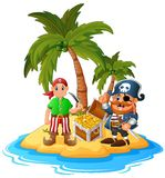 Pirate in the treasure island Royalty Free Stock Photography