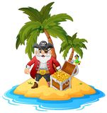 Pirate in the treasure island Stock Photo