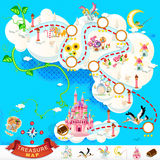 Pirate Treasure Map � Sky Castle Royalty Free Stock Image