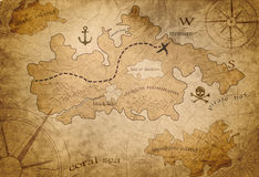 Pirate treasure map Stock Photos