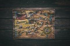 Treasure map. royalty free stock photo