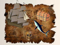 Pirate Treasure Stock Photos