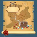 Pirate treasure map Royalty Free Stock Images