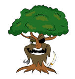 Pirate tree cartoon Stock Photo