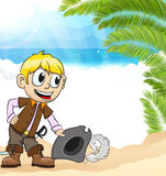 Pirate on a tropical island Royalty Free Stock Photo