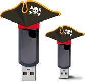 Pirate USB flash drive Royalty Free Stock Images