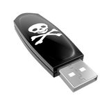 Pirate USB stick Royalty Free Stock Photography