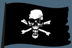 Pirate vector flag Royalty Free Stock Images