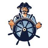 Pirate vector logo. corsair, captain, sailor, seafarer icon Stock Images