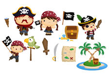 Pirate vector set Royalty Free Stock Photos