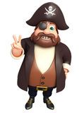 Pirate with Victory pose Royalty Free Stock Photos