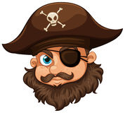 Pirate wearing hat and eyepatch Royalty Free Stock Photo