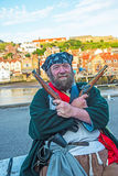 Pirate at Whitby Tortuga Festival 2017 stock image